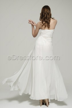 Sweetheart Chiffon Beach Wedding Dress with Slit
