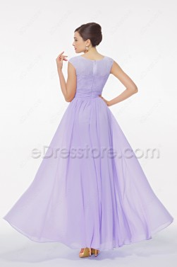 Modest Lavender Formal Dresses for Wedding