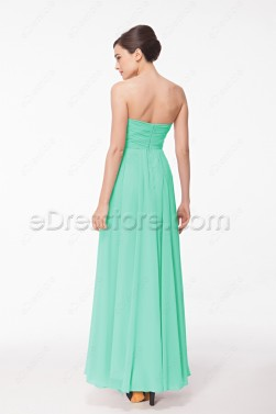 Mint Green Chiffon Prom Dresses Long