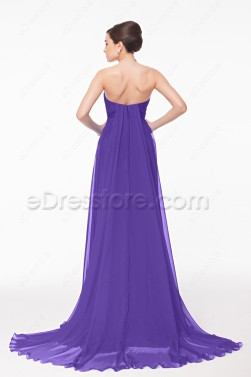 Sweetheart Lavender Long Pregnant Bridesmaid Dresses Maid of Honor Dress