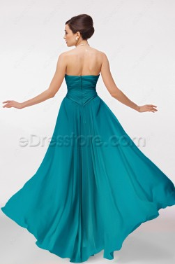 Long Jade Green Bridesmaid Dresses