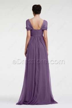 Lavender Evening Dress Maternity Formal Dresses Cap Sleeves