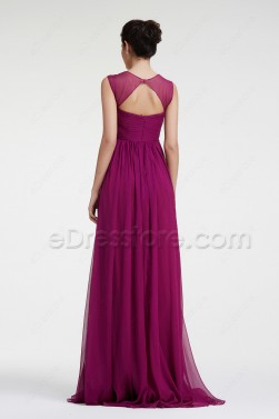 Magenta Maternity Bridesmaid Dresses with Straps