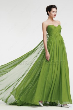 Green Evening Dresses Formal Dresses Empire Waist