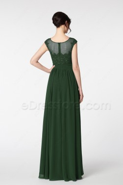 Dark Green Formal Dresses Plus Size Evening Dresses