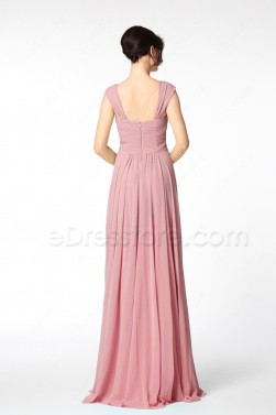 Pencil Eraser Pink Mother of the Groom Dresses Long
