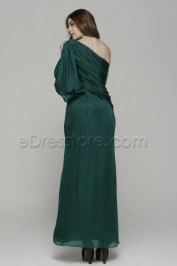 Forest Green Trumpet Bridesmaid Dresses Long