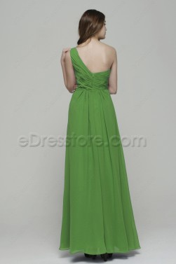 Lime Green Long Prom Dresses with Rhinestones