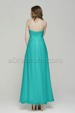 Jade Green Long  Bridesmaid Dresses Maid of Honor Dresses