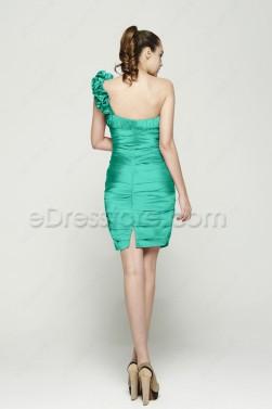 Flowers Mint Green Sheath Homecoming Dresses