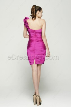 Hot Pink Sheath Cocktail Dresses