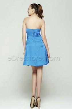 Strapless Aqua Blue Cocktail Dresses