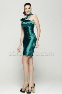 Dark Green Sheath Homecoming Dresses