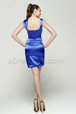 Royal Blue Sheath Cocktail Dresses
