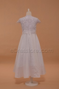 Cap Sleeves First Communion Dresses