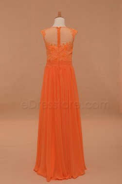 A Line Lace Chiffon First Communion Dress Floor Length