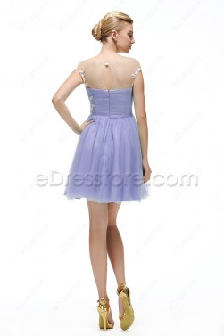 Lavender short homecoming dresses under 100