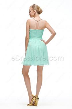 Mint Green Homecoming Dresses Short Prom Dress