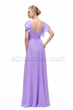 Lavender Plus Size Formal Dresses with Sleeves