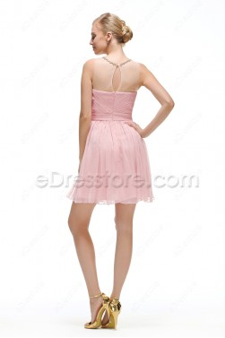 Light Pink Short Prom Dress