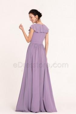 Wisteria Modest Cheap Bridesmaid Dresses Long
