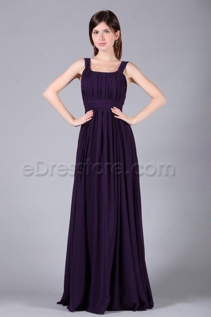 Dark Purple Junior Bridesmaid Dresses