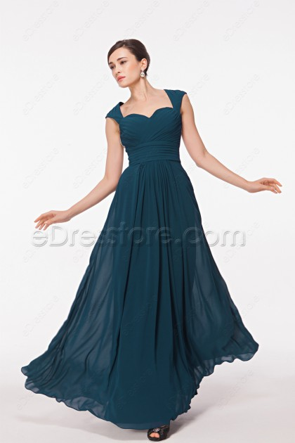 Sweetheart Backless Teal Bridesmaid Dresses Maid of Honor Dresses