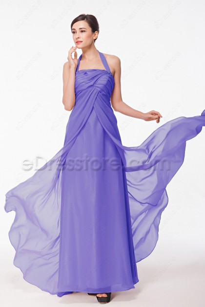 Halter Lavender Maternity Bridesmaid Dresses