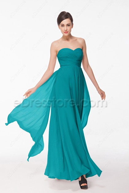 Jade Green Long Prom Dresses with Overlays