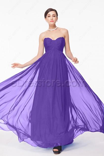 Sweetheart Lavender Long Pregnant Bridesmaid Dresses Maid of Honor Dress