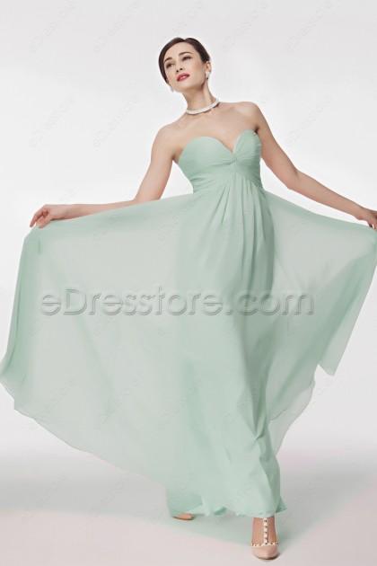 Pastel Green Formal Dresses Empire Waist