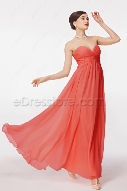 Coral Bridesmad Dresses for Maternity