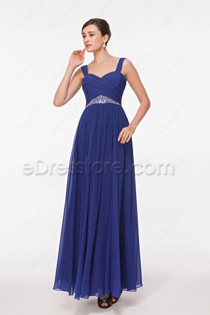 Sweetheart Royal Blue Junior Bridesmaid Dresses