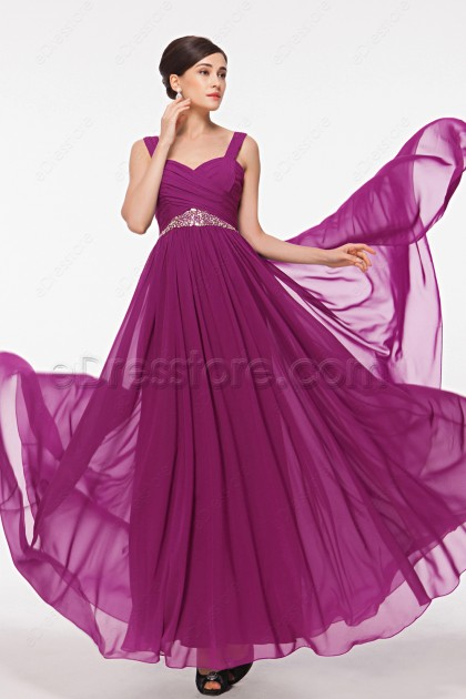 Sweetheart Magenta Beaded Maid of Honor Dresses Bridesmaid Dresses
