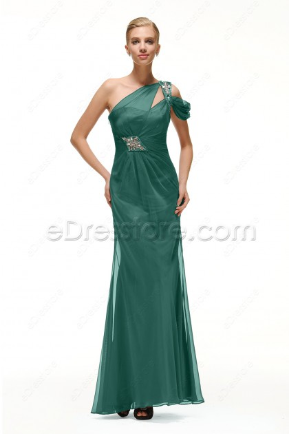 Beaded Trumpet Dusty Green Formal Dresses Long