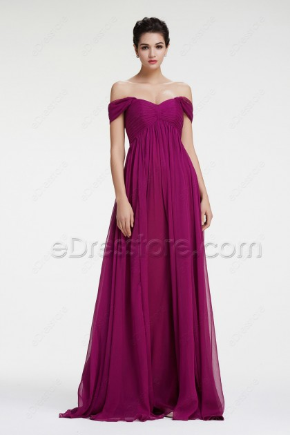 Magenta Mix and Match Maternity Bridesmaid Dresses
