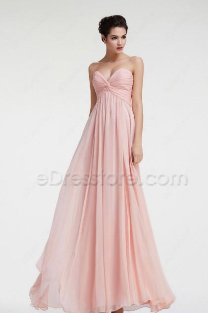 Sweetheart Peach Maternity Bridesmaid Dresses