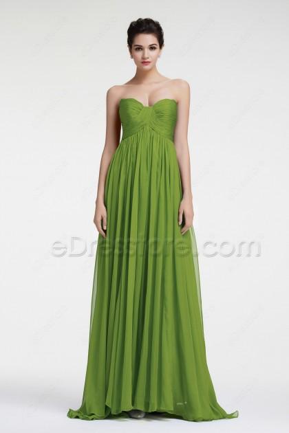 Green Evening Dresses Formal Dresses Empire Waist