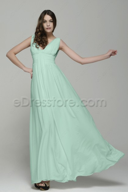 Mint Green Bridesmaid Dresses Maid of Honor Dresses