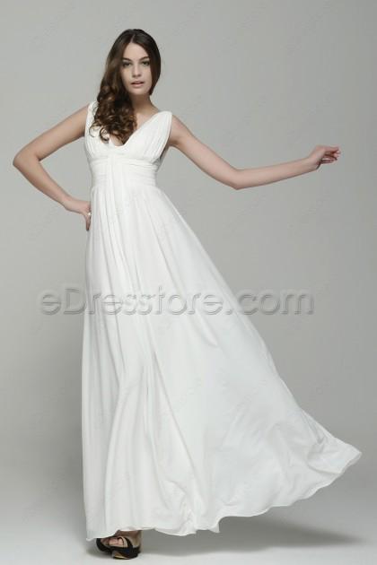 Simple Elegant Chiffon Beach Wedding Dresses