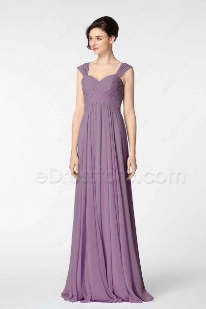 Wisteria Purple Formal Dresses with Straps