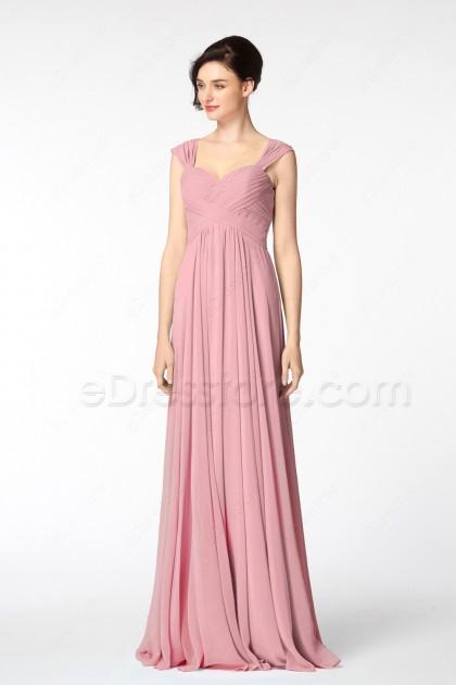 Pencil Eraser Pink Mother of the Groom Dresses Long