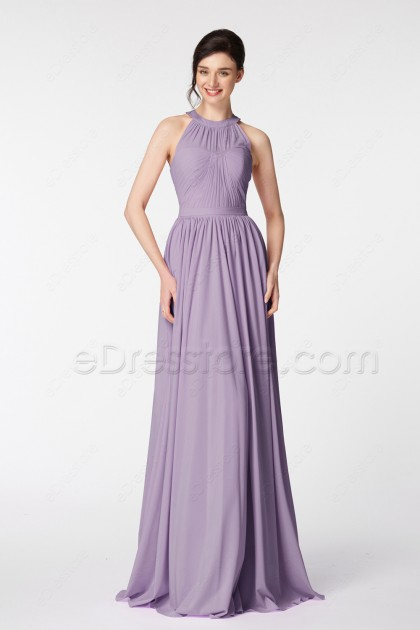Halter Wisteria Long Prom Dresses