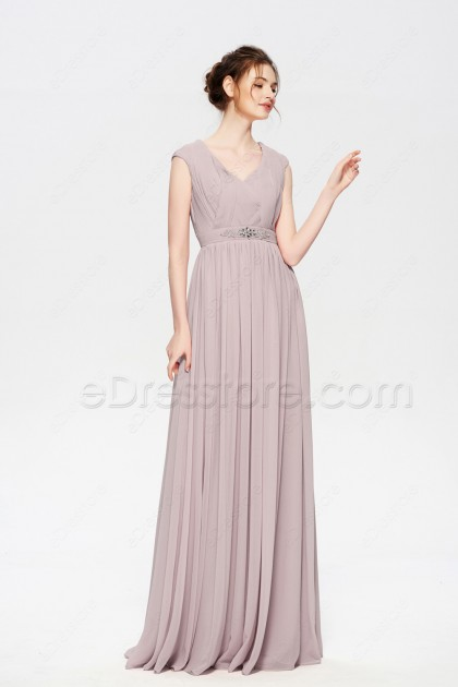 Modest Biscotti Evening Dresses Long Cap Sleeves