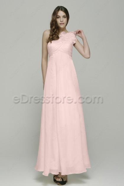 Pink long maternity bridesmaid dresses