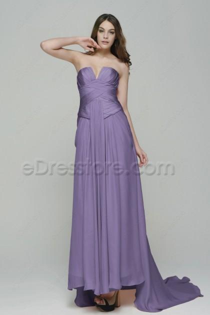 Lavender Long Bridesmaid Dresses Maid of Honor Dresses