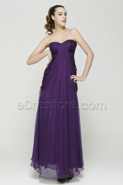 Dark Purple Trumpet Bridesmaid Dresses
