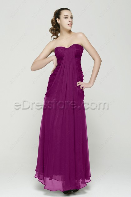 Sweetheart Trumpet Magenta Bridesmaid Dresses