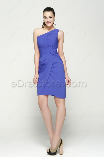 Cornflower Blue Bridesmaid Dresses Knee Length