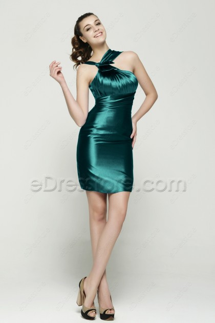 Dark Green Sheath Homecoming Dresses